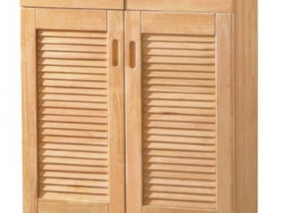 2 doors hard wood shoe cabinet