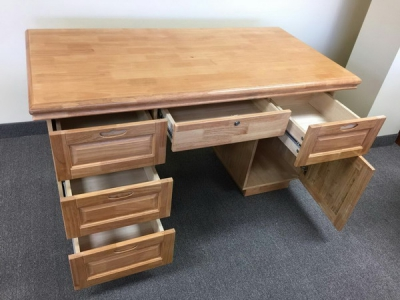 Hard wood writing desk