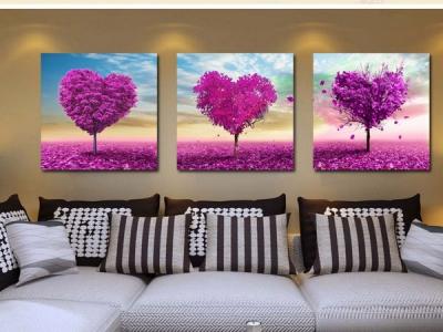 "decorative picture ""purple tree"""