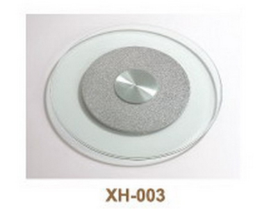 rotatable glass round plate XH-003
