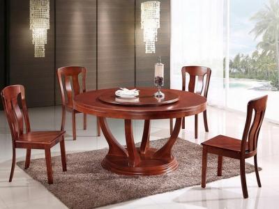 实木圆形餐桌 T282#
