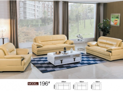 Genuine leather sofa set A196#