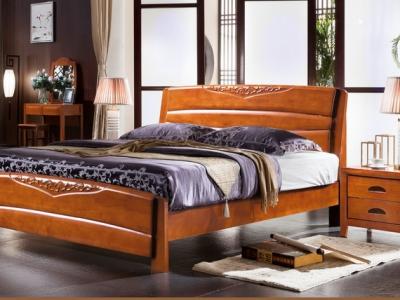实木床bed_M8805#