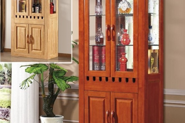 Hard wood wine cabinet